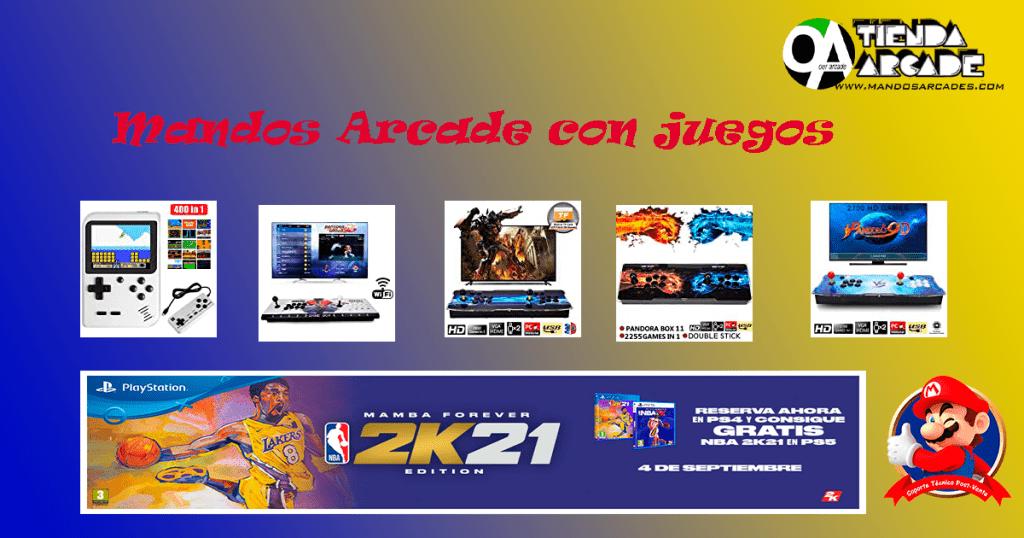 Mandos Arcade con juegos